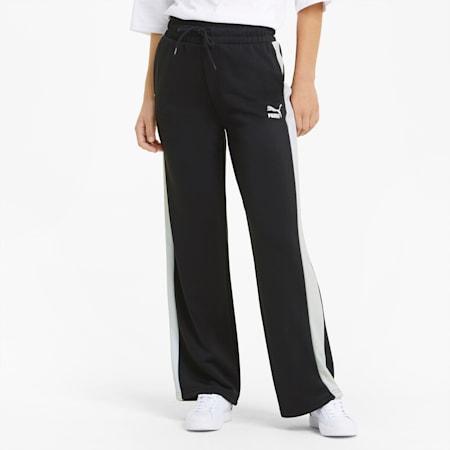 Pantalones de pierna ancha T7 Iconic para mujer, Puma Black, small