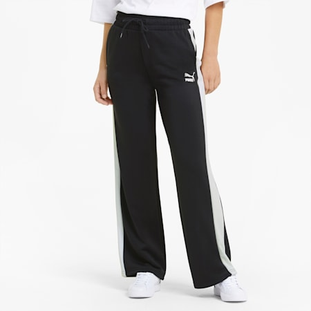 Iconic T7 Wide Leg Women's Pants, Puma Black, small-GBR