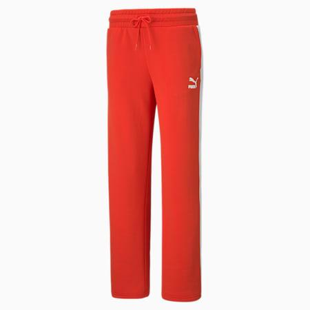 Pantalon à jambe large Iconic T7, femme, Rouge pavot, petit
