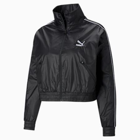 Iconic T7 Woven Women's Track Jacket, Puma Black, small-GBR