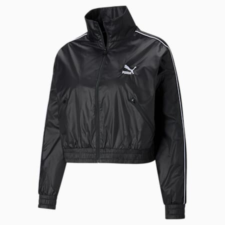 Iconic T7 Woven Women's Track Jacket, Puma Black, small-SEA