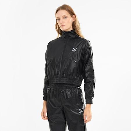 Iconic T7 Woven Women's Track Jacket, Puma Black, small