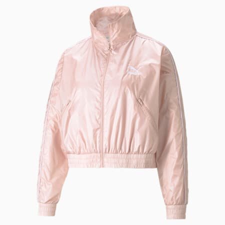 Iconic T7 Woven Women's Track Jacket, Lotus, small-GBR