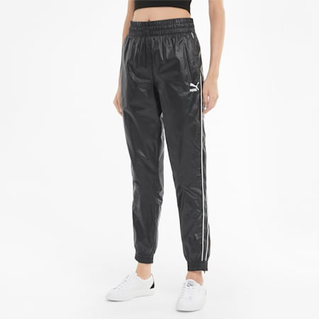 Iconic T7 Woven Women's Track Pants, Puma Black, small-SEA