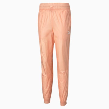 Iconic T7 Woven Women's Track Relaxed Pants, Apricot Blush, small-IND