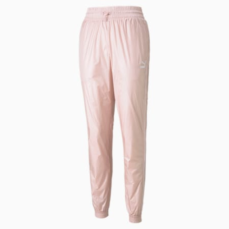 Iconic T7 Woven Women's Track Pants, Lotus, small-GBR