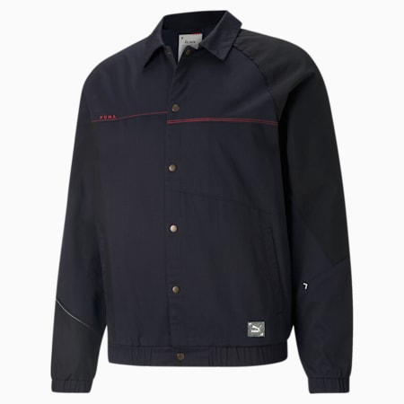 RE.GEN Woven Unisex Relaxed Jacket, Anthracite, small-IND