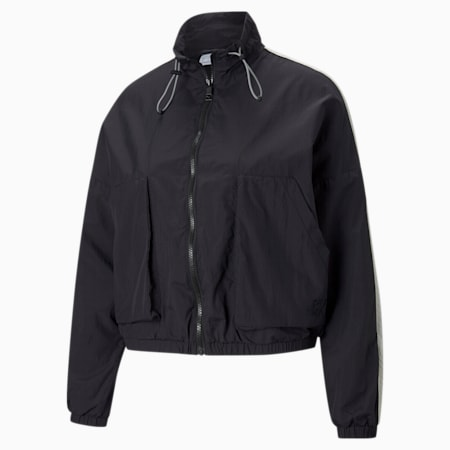 Infuse Women's Woven Jacket, Puma Black, small-SEA