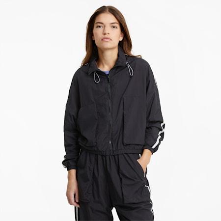 Infuse Woven Women's Jacket, Puma Black, small-SEA