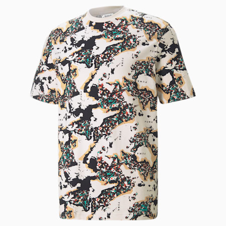 RE.GEN Printed  Unisex  Relaxed T-shirt, no color, small-IND
