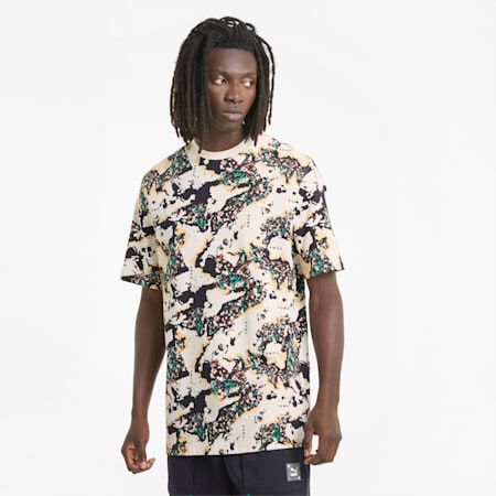 RE.GEN Unisex T-Shirt mit All-over-Print, no color, small