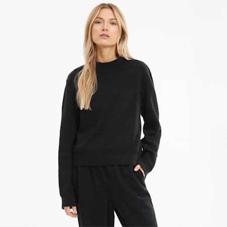 Infuse Women's Crewneck Sweatshirt, Puma Black, small-GBR