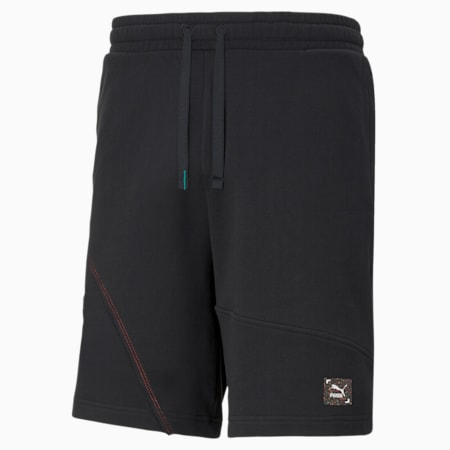RE.GEN Unisex Relaxed Shorts, Anthracite, small-IND