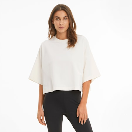 Infuse Women's Loose Fit Tee, Whisper White, small-GBR