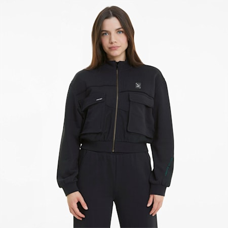 RE.GEN Cropped Women's Jacket, Anthracite, small-SEA