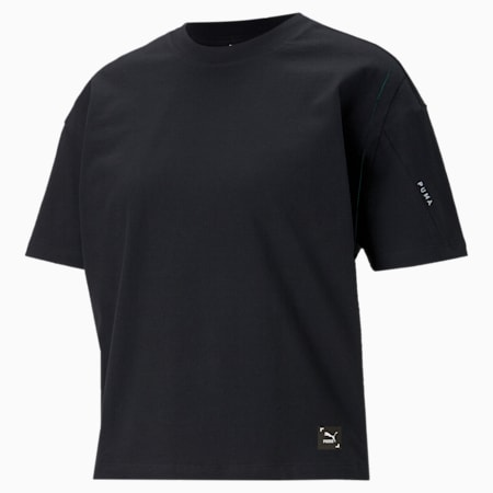 RE.GEN Women's Relaxed T-shirt, Anthracite, small-IND