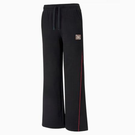 RE.GEN Wide Leg Women's Pants, Anthracite, small-SEA
