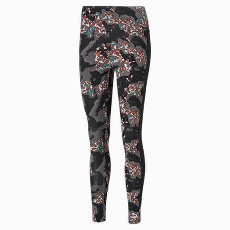RE.GEN Printed Women's Leggings, Anthracite, small-IND