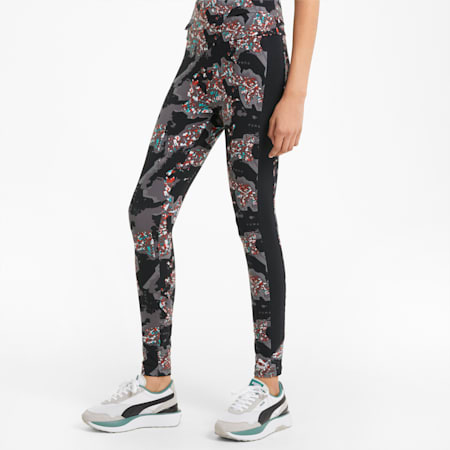 RE.GEN Printed Women's Leggings, Anthracite, small-GBR