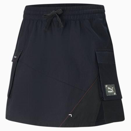 RE.GEN Woven Women's Skirt, Anthracite, small