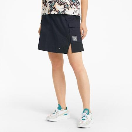 RE.GEN Woven Women's Skirt, Anthracite, small-SEA