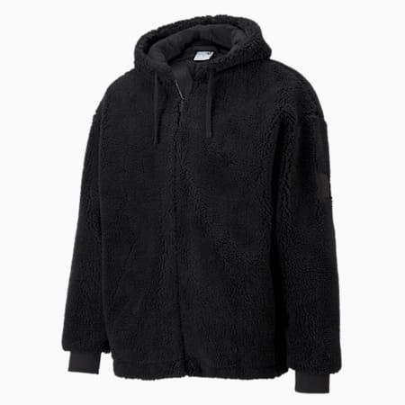 CLASSICS ウィンター シェルパ フーデッド ジャケット, Puma Black, small-JPN