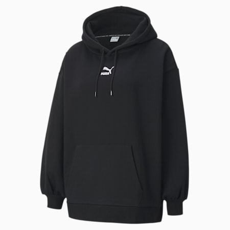 Classics Oversized Women's Hoodie, Cotton Black, small