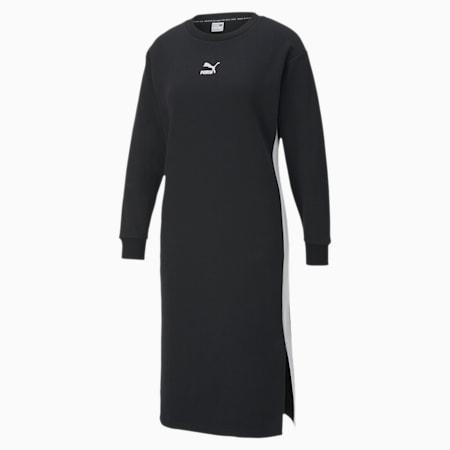 CLASSICS ウィメンズ 長袖 クルーネック ドレス, Cotton Black, small-JPN