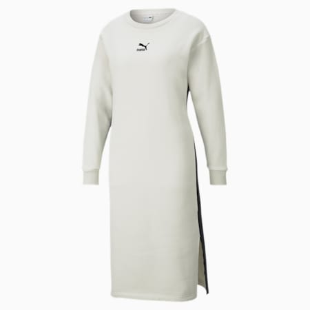 CLASSICS ウィメンズ 長袖 クルーネック ドレス, Vaporous Gray, small-JPN