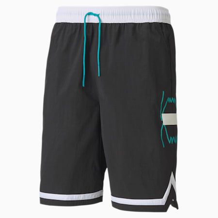 Franchise Woven Men's Basketball Shorts, Puma Black, small-IND