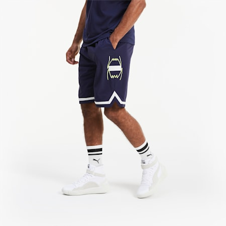 Short tissé Franchise Basketball pour homme, Peacoat, small