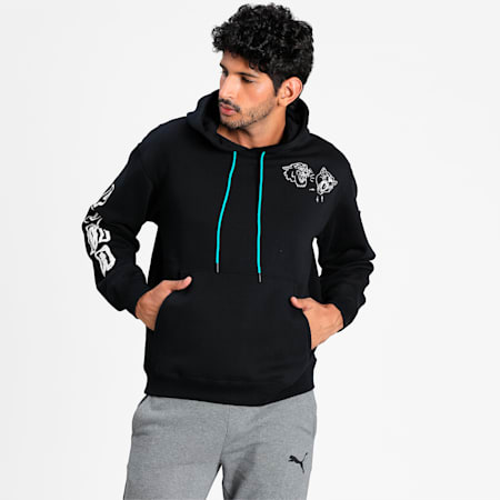 Franchise Men's Basketball Hoodie, Puma Black, small-IND