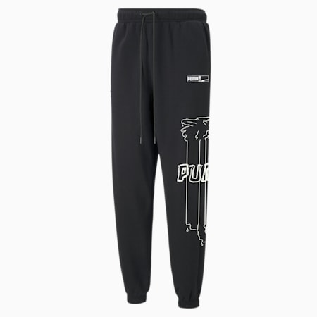 Franchise Men's Basketball Sweatpants, Puma Black, small-IND