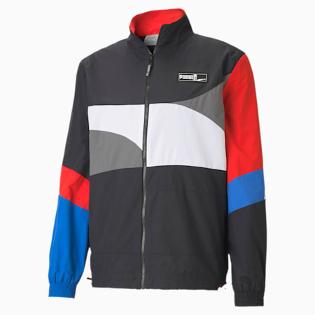Formstrip Woven Men's Basketball Jacket, Puma Black-Puma White, small-IND