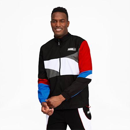Formstrip Men's Woven Jacket, Puma Black-Puma White, small