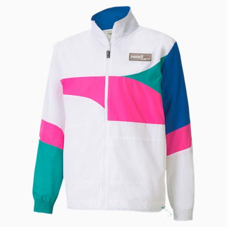 バスケットボール FS ウーブン ジャケット, Puma White-Luminous Pink, small-JPN
