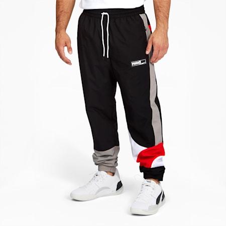 Formstrip Men's Woven Pants, Puma Black-Fiery Red, small