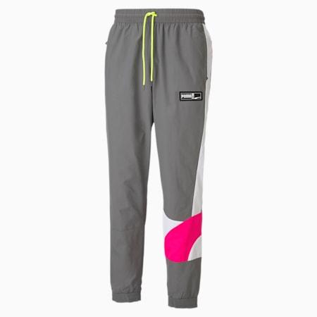 Formstrip Herren Basketball Gewebte Hose, CASTLEROCK-Pink Glo, small