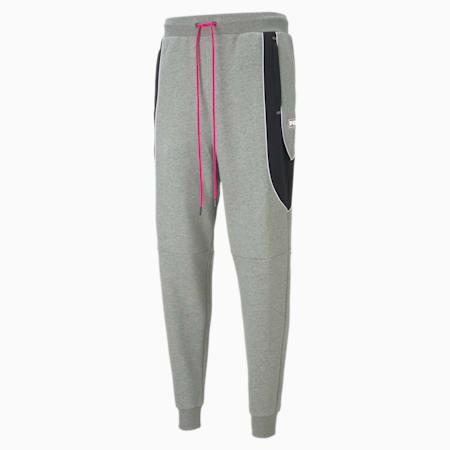 Formstrip Winterized Men's Sweatpants, Medium Gray Heather, small