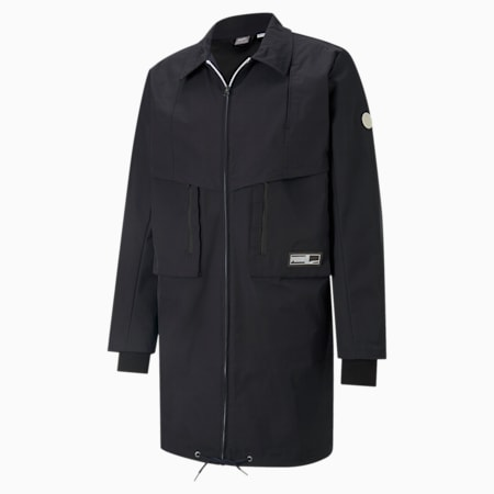 Tunnel basketbal trenchcoat heren, Puma Black, small