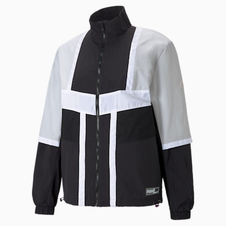 Court Side Men's Basketball Jacket, Puma Black, small