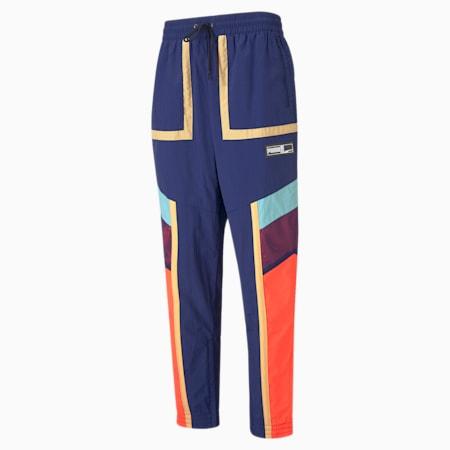 Court Side Men's Basketball Pants, Elektro Blue, small