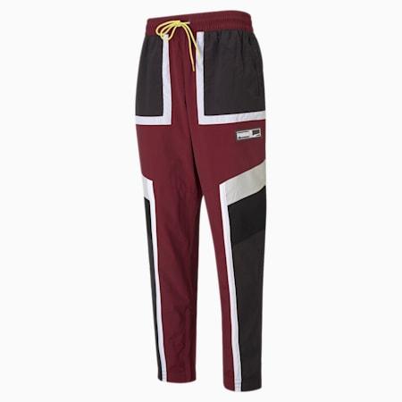Court Side Men's Basketball Pants, Zinfandel, small