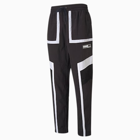 Court Side Men's Basketball Relaxed Pants, Puma Black, small-IND