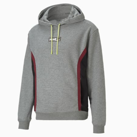 Court Side Men's Basketball Hoodie, Medium Gray Heather, small