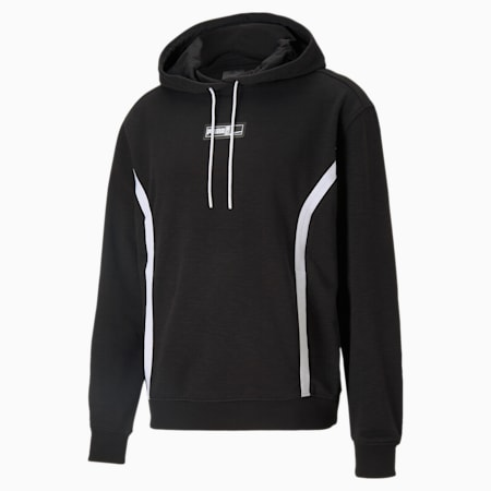 Court Side Men's Basketball Hoodie, Puma Black, small
