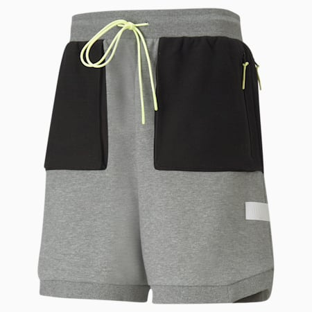 Standby Men's Basketball Shorts, Medium Gray Heather, small