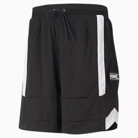 Court Side Mesh Men's Basketball Shorts, Puma Black-Puma Black, small-GBR