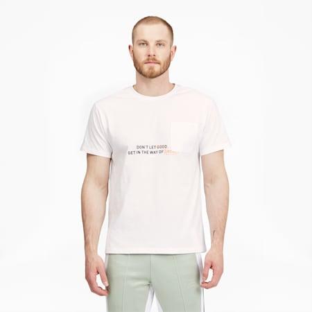 Camiseta de básquetbol con bolsillo para hombre, Puma White, pequeño