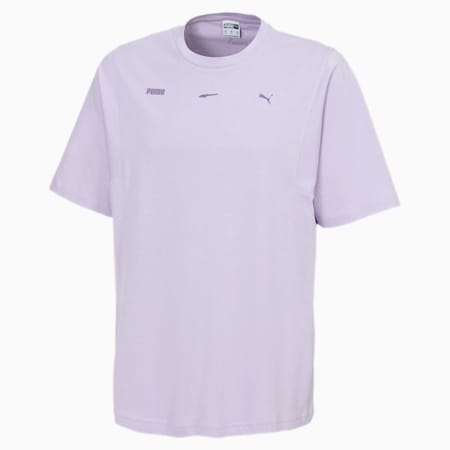 Męska koszulka Boxy, Pastel Lilac, small